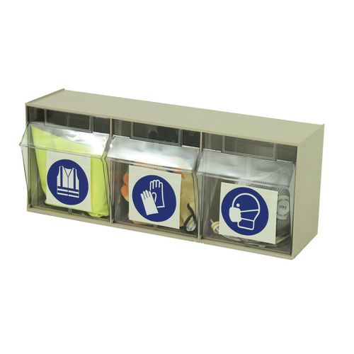Small Parts Storage Clear tilting drawer units