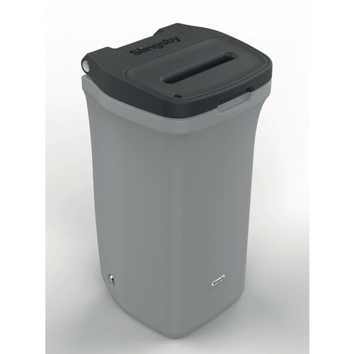 Lockable mobile confidential paper bin
