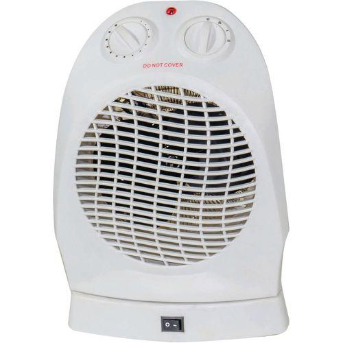 Upright fan heater/cooler with swivel head