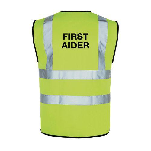 High vis first aider vest, large