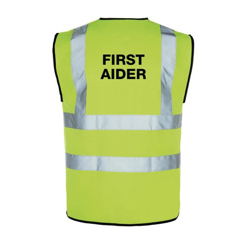 High vis first aider vest, xx large