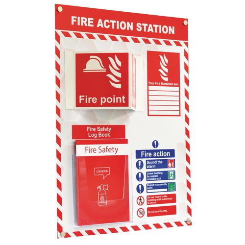 Shadowboard fire safety station