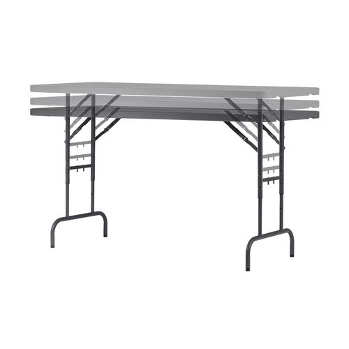 Polyfold lightweight height adjustable folding tables