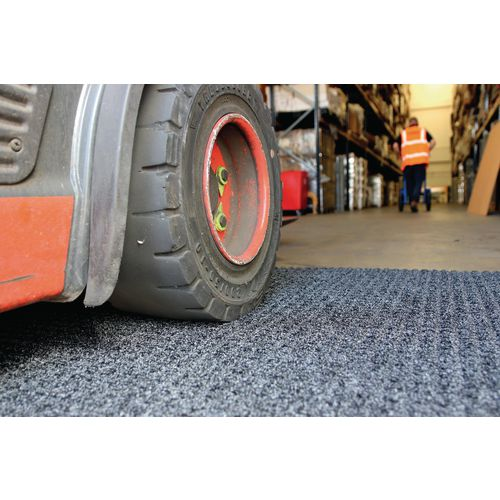 Highly absorbent heavy duty forklift mat