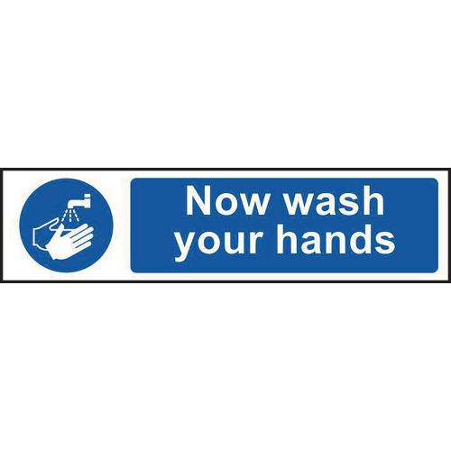 Now wash your hand mini sign