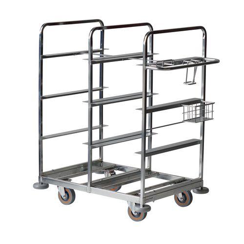 Multi-tier merchandise picking trolley
