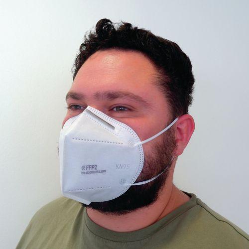 FFP2 KN95 Fold flat disposable face masks, 10 pack