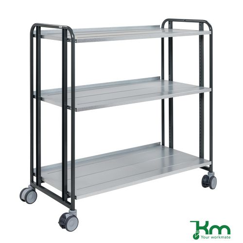 Konga multi-positional steel shelf trolleys