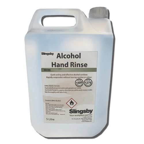 Hand Soaps / Sanitisers & Dispensers ALCOHOL RINSE  (UN1170)  5LTR