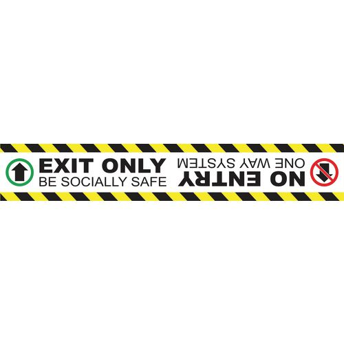 Exit only no entrance floor graphic