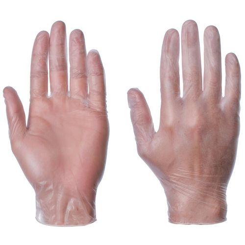 Pre-powdered vinyl gloves