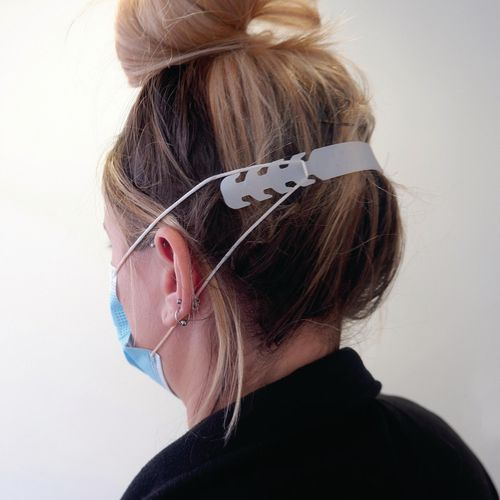 Eye / Face Protection Mask elastic extender and ear guard