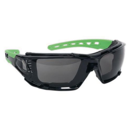 Safety spectacles with EVA foam lining