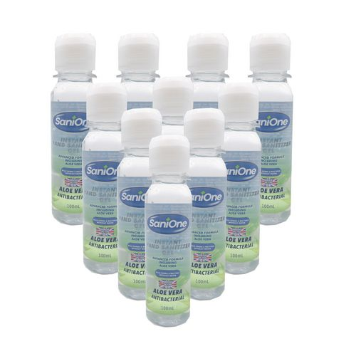 Hand Soaps / Sanitisers & Dispensers SANIONE HAND GEL  70 PERC ALCOHOL PACK OF 10
