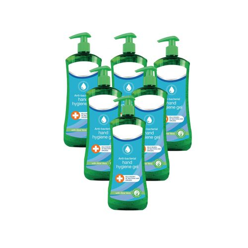 Hand Soaps / Sanitisers & Dispensers CALYPSO ANTI BACTERIAL  HAND HYGIENE GEL 500ML PACK OF 6