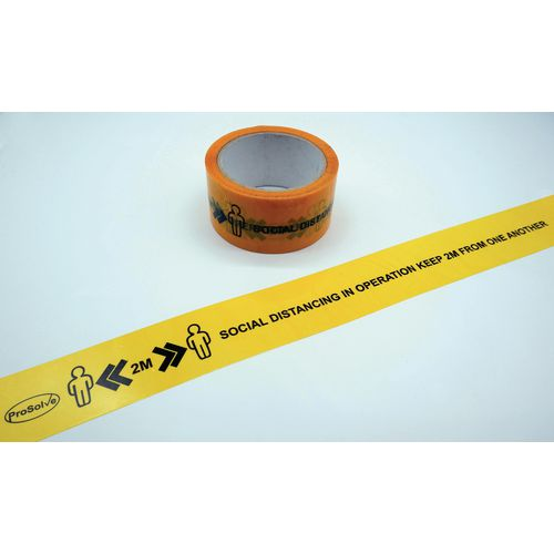 Printed social distancing tape