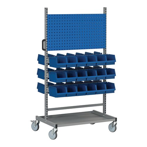 Bin trolley with perforated panel