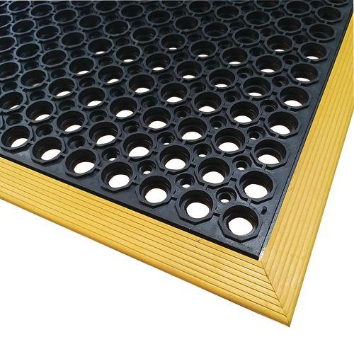 Slip-resistant rubber workstation safety mats