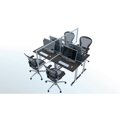 Free standing deskop protection and divider screen