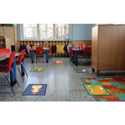 Social distancing mats for primary schools and nurseries