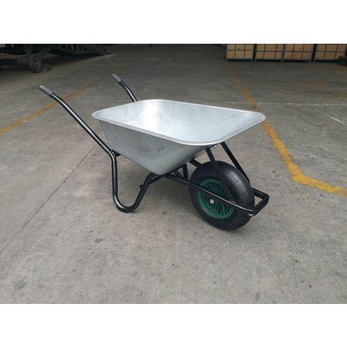 Heavy duty 100 litre steel pan wheelbarrow