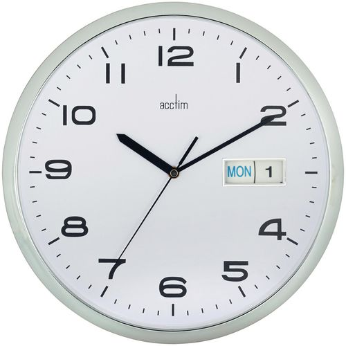Day and date display clock