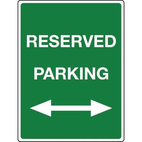 Traffic and parking control signs - Reserved parking arrow left & right