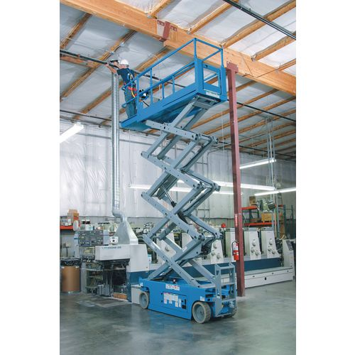Powered work platform with scissor lift