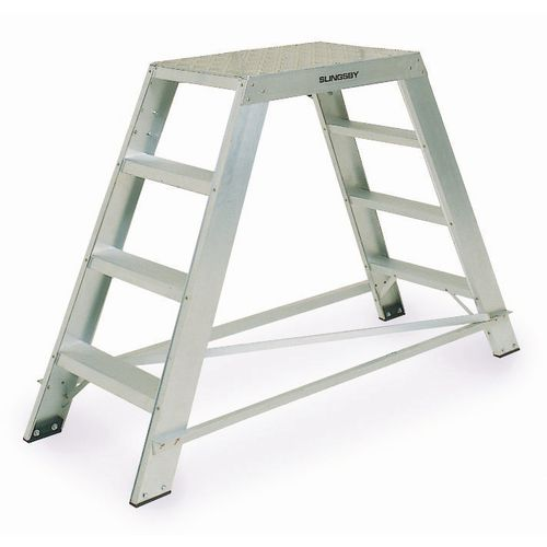 Heavy duty aluminium platform steps - Single or double sided