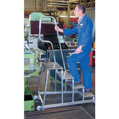 Mobile Aluminium Platforms Choice Of 3 Heights