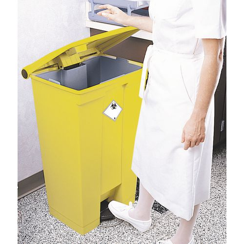 Clinical waste plastic pedal bin
