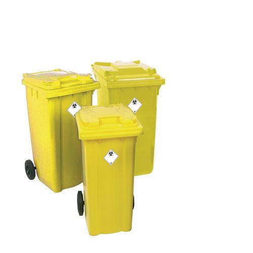 Lockable clinical waste wheelie bin