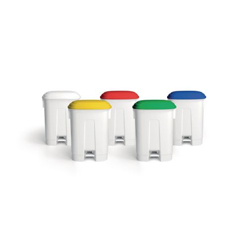 Pedal bins with coloured lids