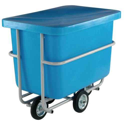 Easy steer plastic container truck with steel frame