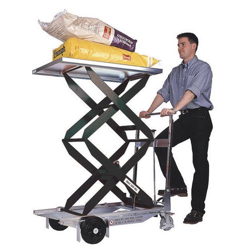 Lightweight mobile lifting tables - Manual footpump