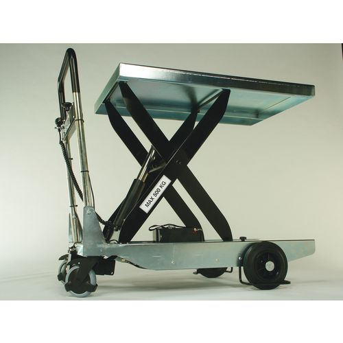 Lightweight mobile lifting tables - Battery operated pump