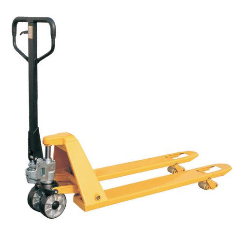 Low profile pallet trucks