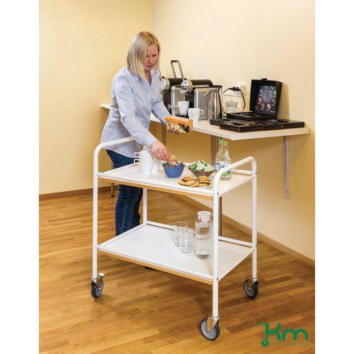 Konga service trolleys with melamine shelves