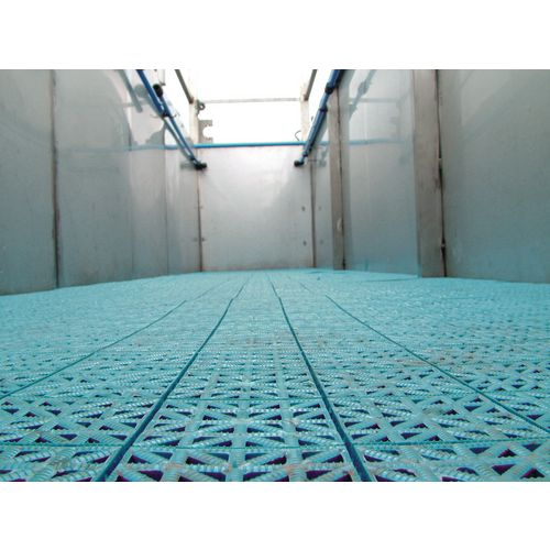 Duckboard floor tiles