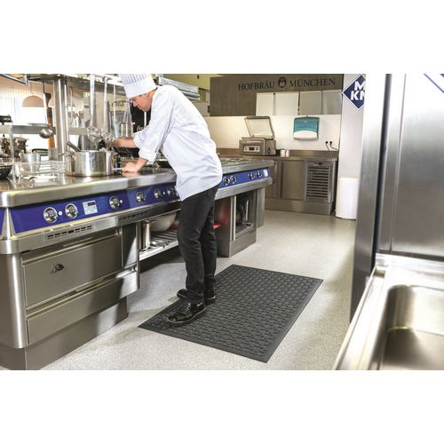 Washable anti-viral rubber hygiene mats
