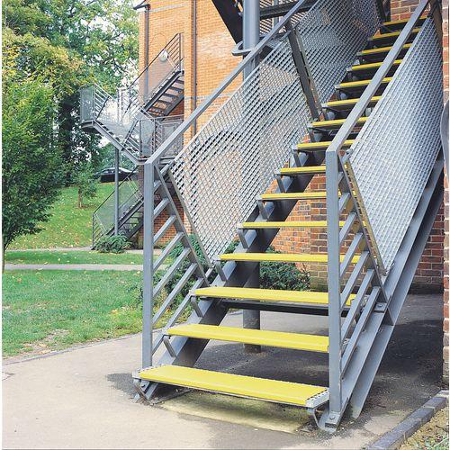 Stainless steel slip resistant treads