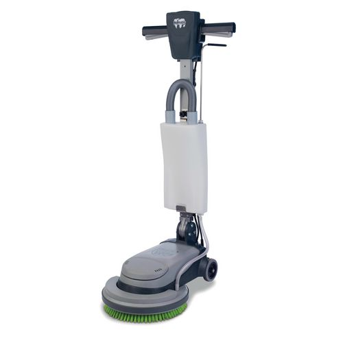 Low profile floor scrubber machine