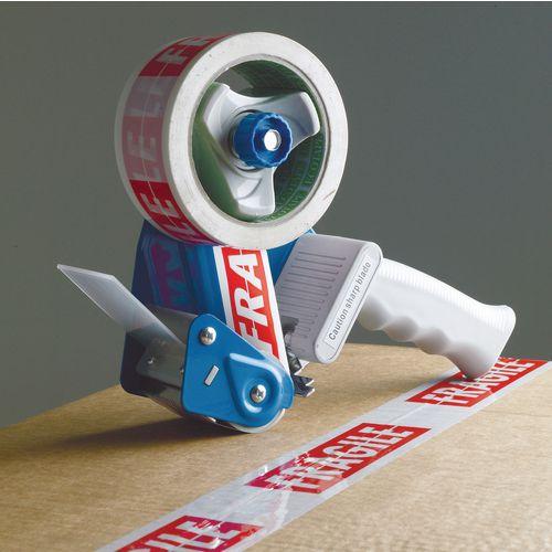 Metal dispenser with adjustable brake