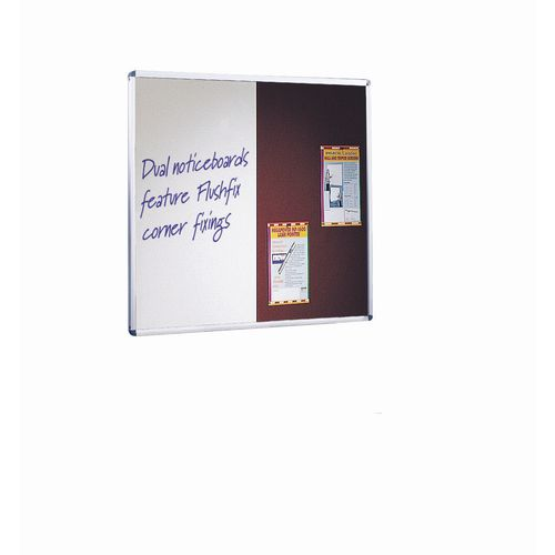 Wall Mounted Aluminium Frame Combination Felt Noticeboard