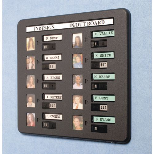 Photograph in/out boards