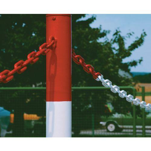 Steel barrier chains
