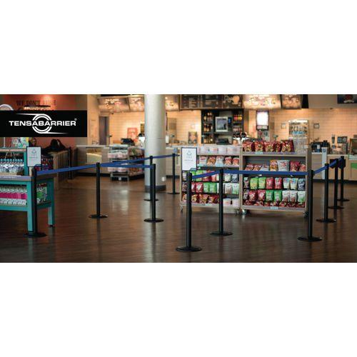 Tensabarrier® Advance retractable barrier system - standard 50mm web post