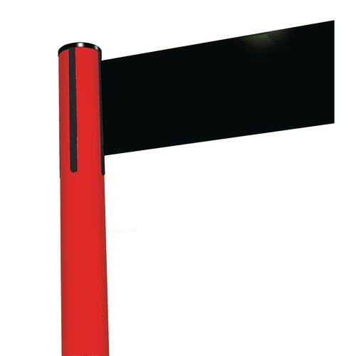 Tensabarrier® Advance retractable barrier system - wide 150mm web post