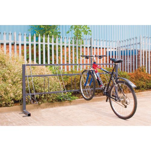Post mounted cycle stand