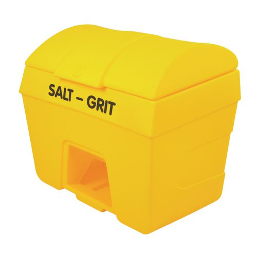 Heavy duty plastic salt & grit bins - With hopper feed